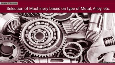 Selection of Machinery on basis of Material